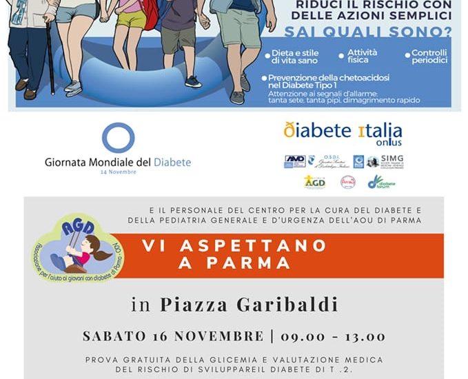 16 novembre – Giornata del diabete con controllo gratuito della glicemia alla popolazione