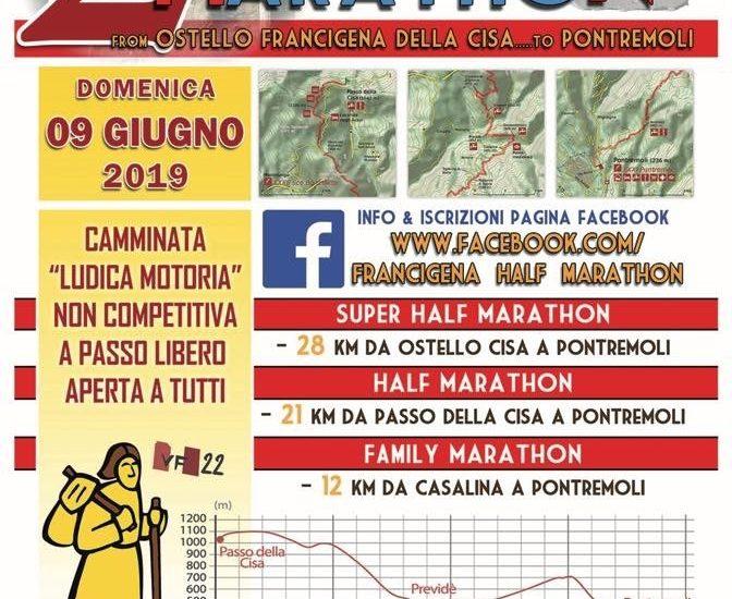 Francigena Half Marathon a Pontremoli: sconto sul pettorale per medici e familiari