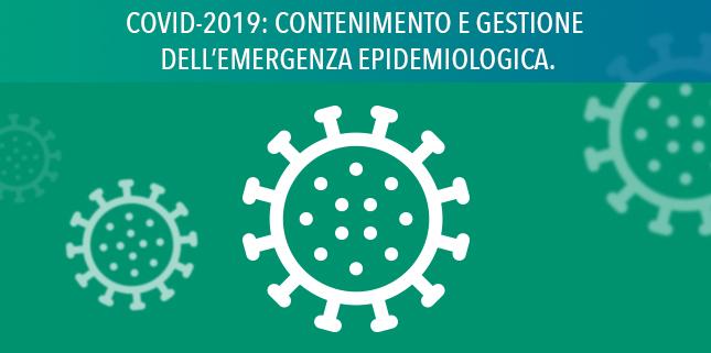 Misure urgenti per la gestione dell'emergenza epidemiologica da Coronavirus (COVID-2019)