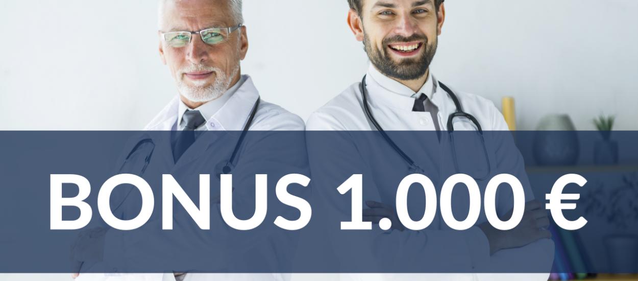 Medici e dentisti: ecco il nuovo Bonus ENPAM+ da mille euro